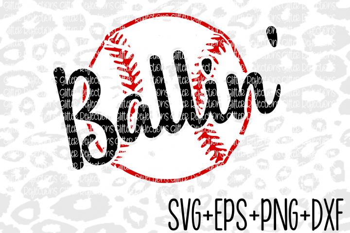 Baseball Svg - Baseballin - Svg- Cricut File- Cameo File