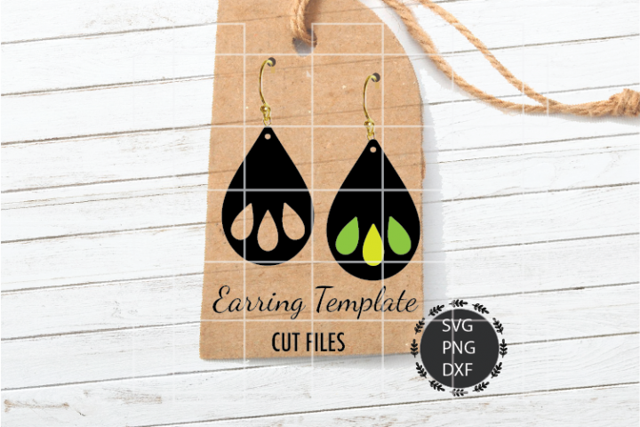 Tear Drop Earrings Svg, Earrings Svg, Teardrop Earrings Svg