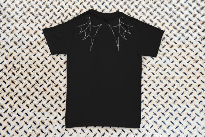 Rhinestone Dragon Wings SVG File Template