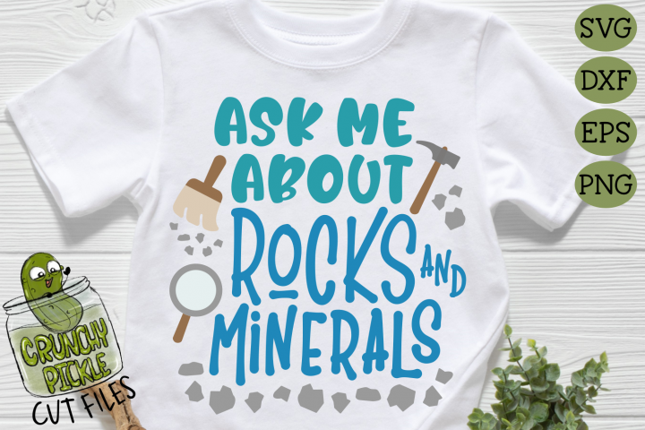 Ask Me About Rocks and Minerals SVG