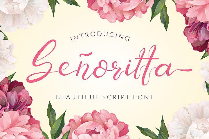 Senoritta - Beautiful Script Font