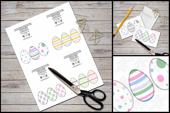 Note Cards, Easter Mini Gift Enclosure Cards Set 1