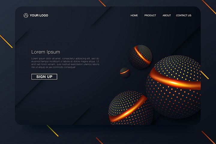 20 - Abstract background design. Landing page template