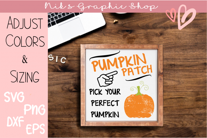Pumpkin Patch Svg, Pumpkin Svg, Fall Sign Svg, Fall Svg