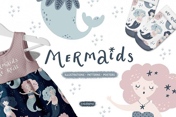 Mermaids Prints & Patterns