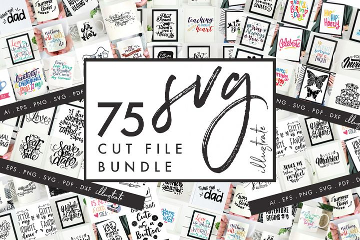 75 SVG Quotes, SVG cut file Bundle, SVG Quotes, SVG Bundle