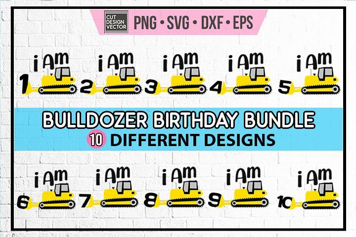 Bulldozer Birthday SVG Bundle