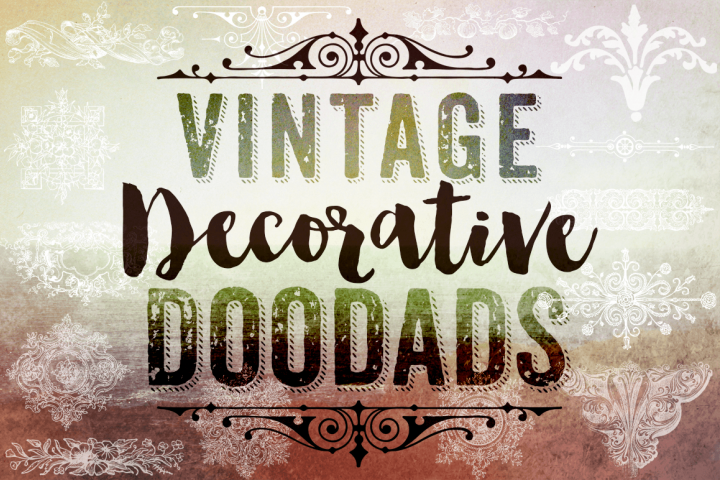 Decorative Photoshop Brushes - Vintage Decorative Clipart