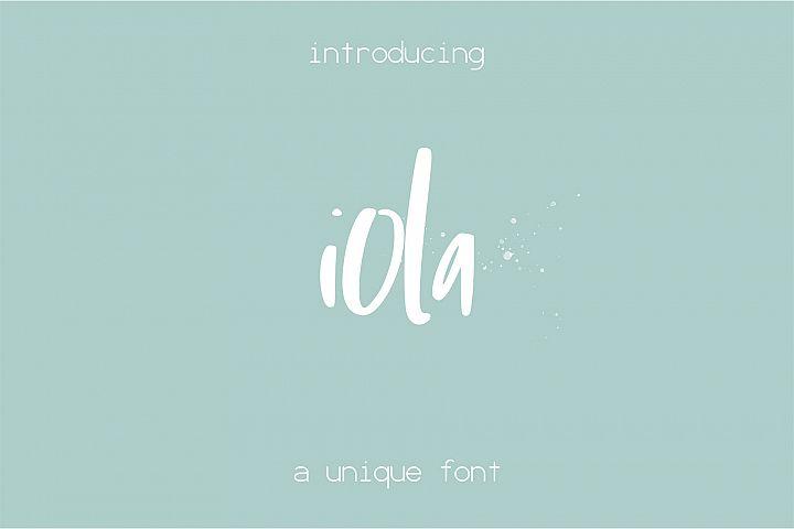 Iola font