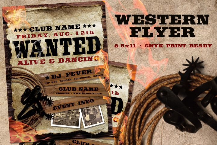 Western Wanted Poster Flyer