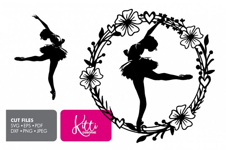 Dancer Ballerina, Paper cut Template SVG