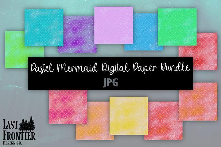 Pastel Mermaid Digital Paper