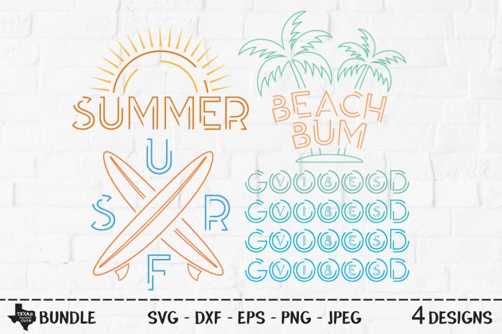 Summer Bundle SVG, Cut Files, Summer Vacation Shirt Designs