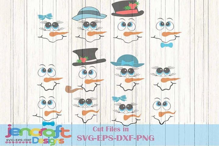 Christmas svg Bundle, Snowman Face SVG, Christmas Snowman