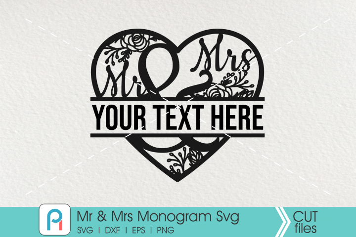 Mr and Mrs Svg, Mr and Mrs Monogram Svg, Mr and Mrs Vector