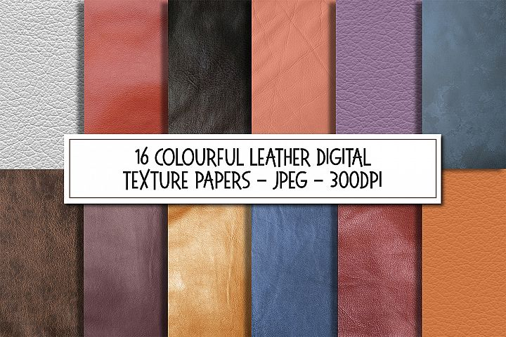 Collection of Colourful Leather Texture Background Images