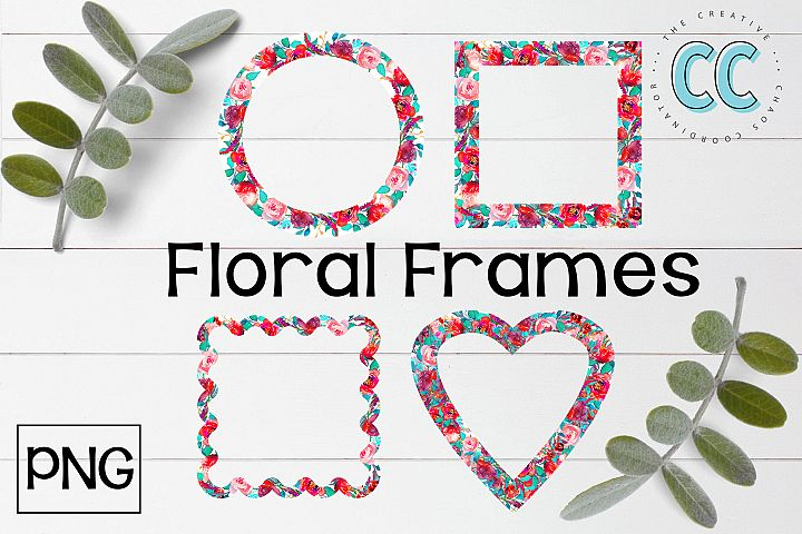 Floral Frames - PNG Files