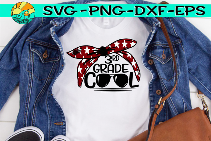 Third Grade Grade Cool - Bandana - Glasses - SVG PNG EPS DX