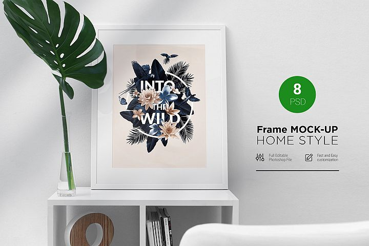 Frame Mock-Up Home Style 8 PSD
