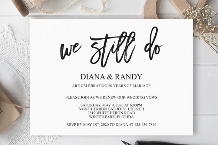 We still do invitation Wedding anniversary invitation