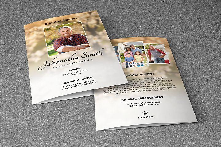 Memorial Funeral Program Template example image 4