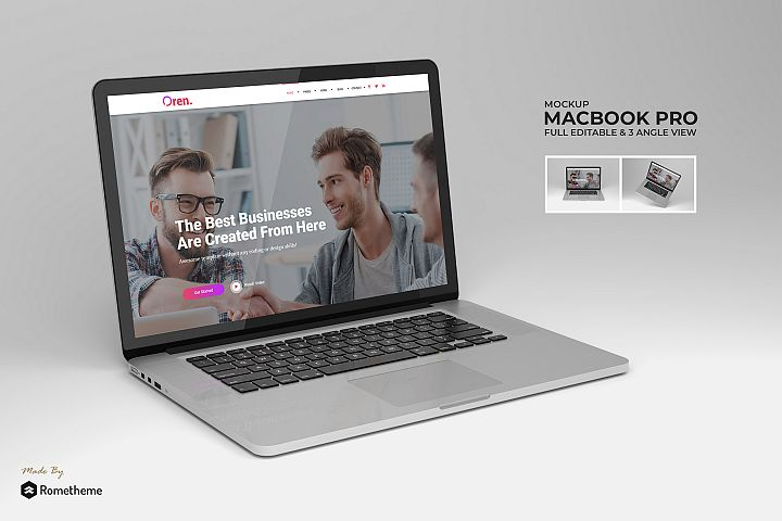 Macbook Pro Laptop Mockup vol. 01