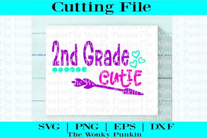 2nd grade cutie SVG