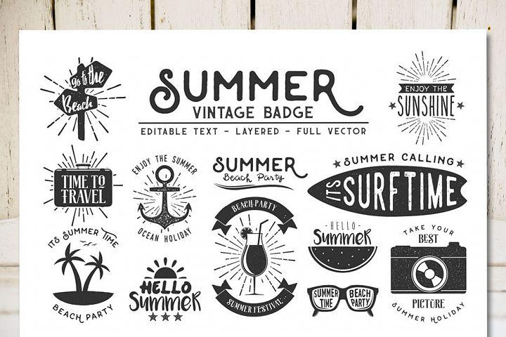 Summer Vintage Badge