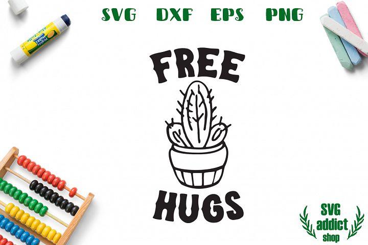 Free Hugs SVG Cut File