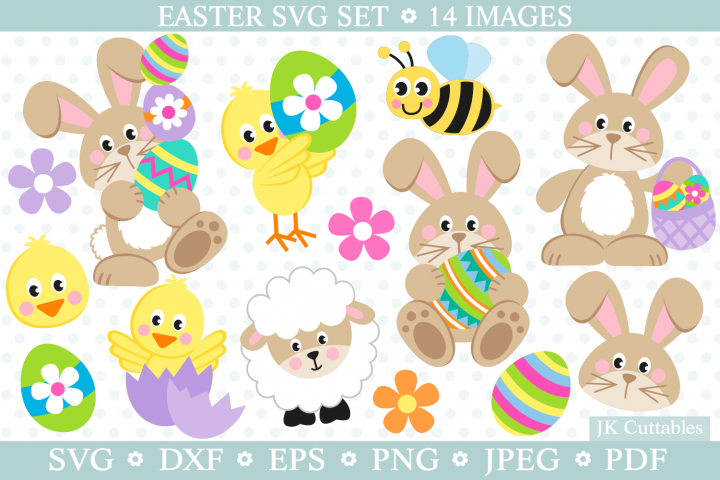 Easter svg, easter bunny svg, easter svg dxf cut files