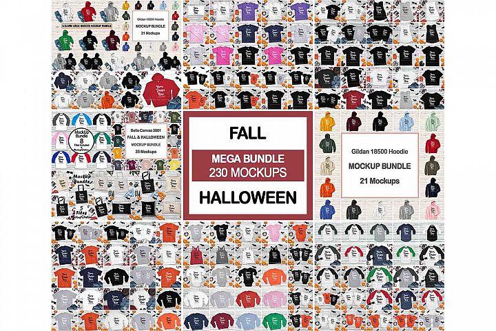 Fall Tshirt Mockup Bundle, Matching Family, Hoodie Halloween