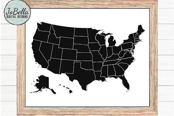 United States Map SVG and Printable - America Stencil