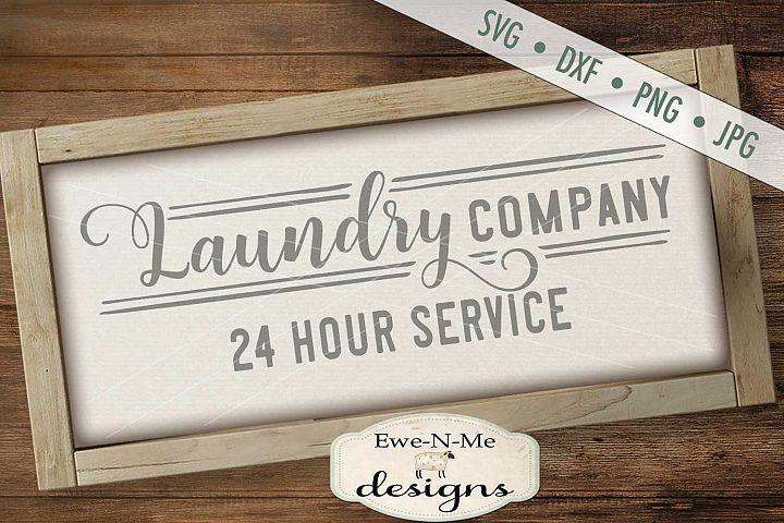 Laundry Company 24 Hour Service SVG DXF Cut File