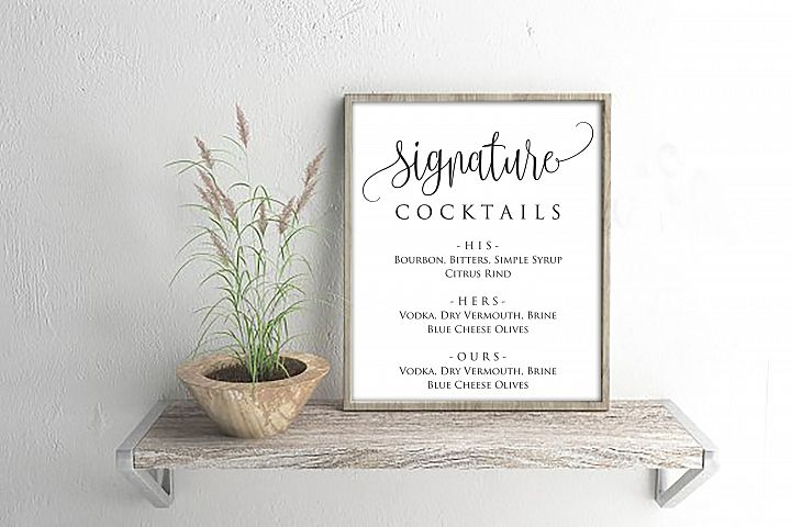 Signature Cocktails Sign Template, DAD_06