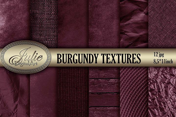 Burgundy vintage old textures digital papers 8. 5 x 11