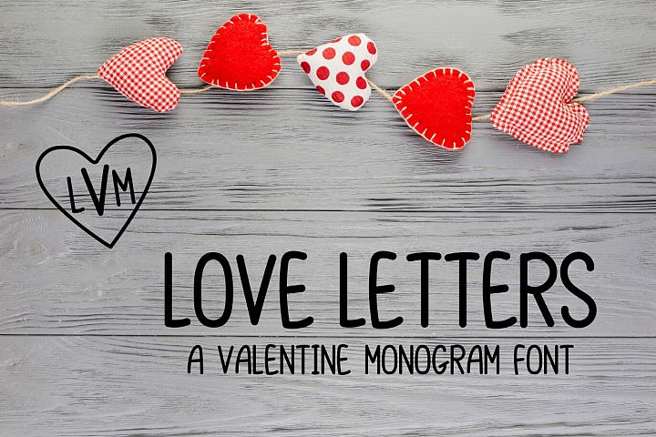 Love Letters - A Valentine Monogram Font