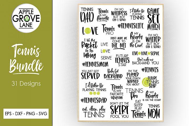 Tennis SVG Bundle - 31 designs - Svg Eps Dxf Png