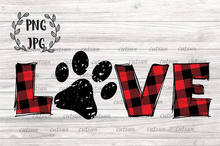 Love Paw sublimation |Love Pet parent | Love dog lover