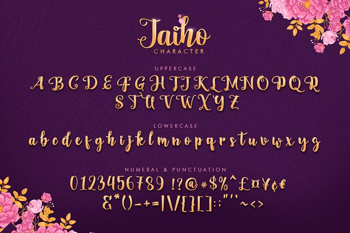 Jaiho Script (Duo Font) example 5