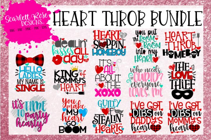 The Heart Throb Bundle - Valentines Day SVG Bundle