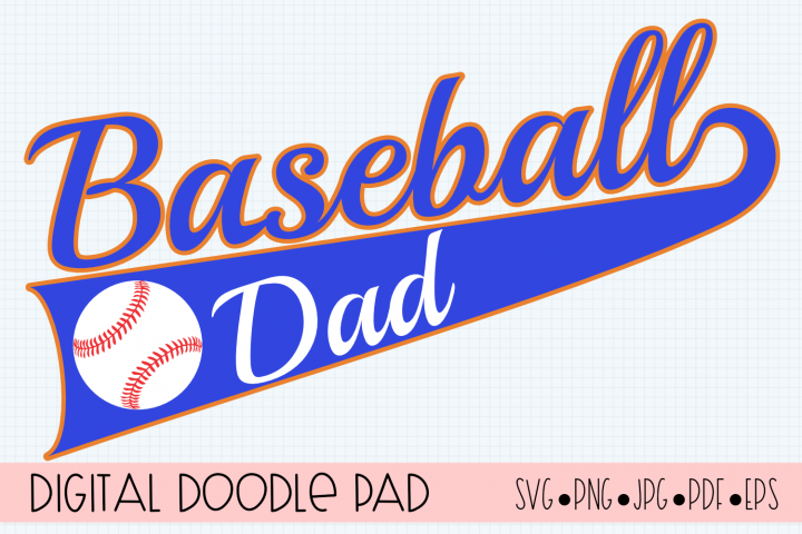 Baseball Dad SVG | Silhouette and Cricut Cut File