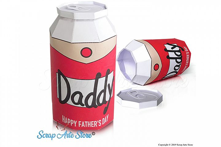 beer can box paper fathers day