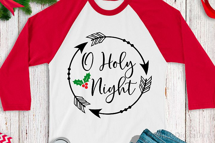 O Holy Night Svg, Christmas Svg, Religious Svg Christian Svg