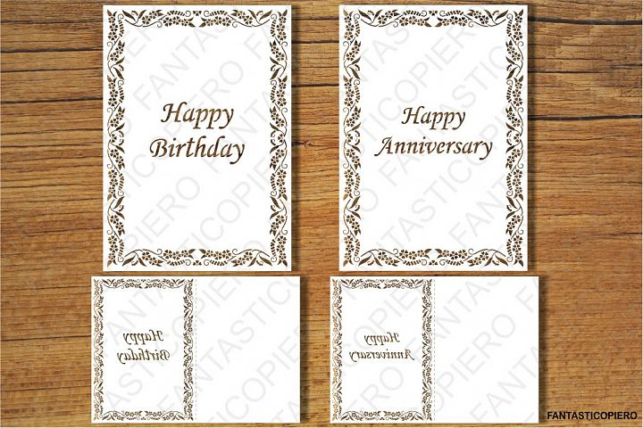 Happy Birthday, Happy Anniversary, Thank You, Greeting Card