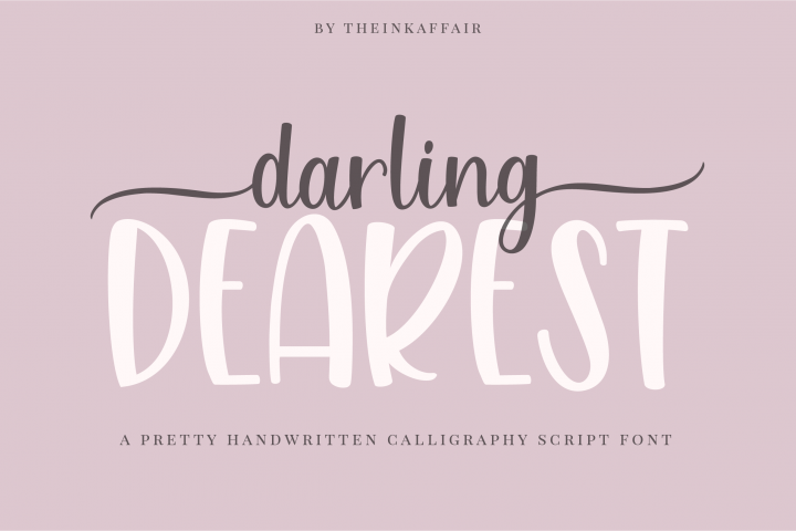 Darling dearest, a sweet calligraphy font