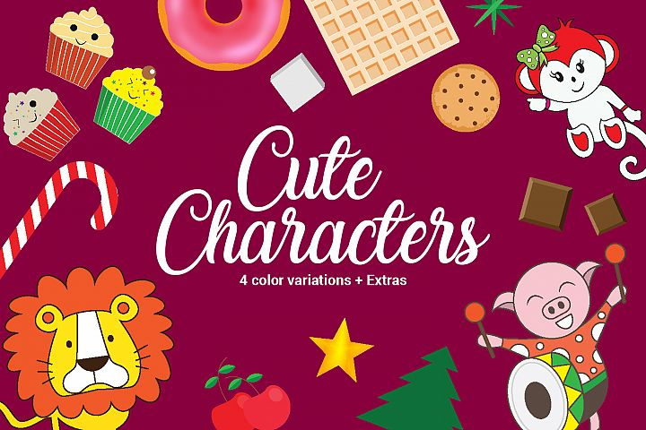 Cute Characters + Extras