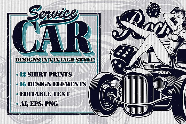 Car Service Vector Designs