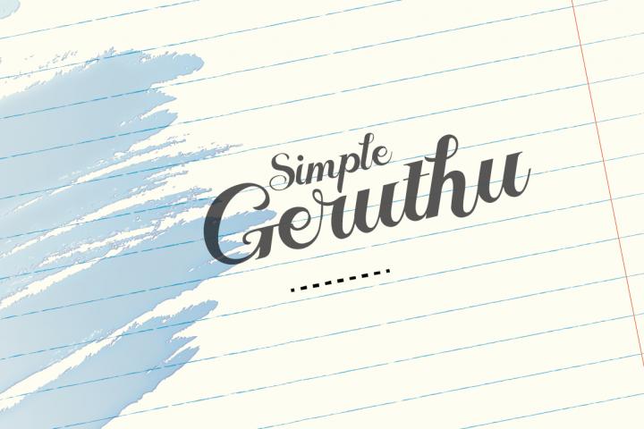 Geruthu Font