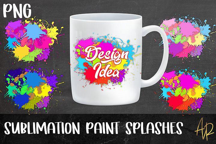 Sublimation Background Colour|paint Splashes PNG bundle