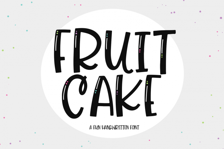 Fruit Cake - A Handwritten Font